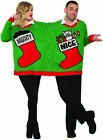 Ugly Christmas Sweater For 2 Holiday Party Adult Couples Naughty Or Nice XL