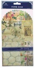 Juego de 6 bolsas de papel decorativas 3 Tamaños En Paquete Regalo Artesanía