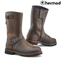 TCX Fuel Waterproof Vintage Motorcycle Boots - Brown