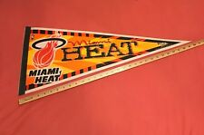 *RARE* VINTAGE 80s MIAMI HEAT PENNANT NBA BASKETBALL FULL SIZE 12x30""
