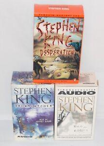 Stephen King Lot 3 AudioBook Cassette Desperation Bag  Bones Dream Catcher Tape