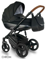Baby Chrome One Kinderwagen Kombi 2w1 Wanne Buggy Schwarz