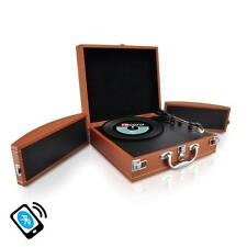 Pyle PVTTBT8BR Bluetooth Turntable MP3 Recording AUX Rechargeable & Speakers