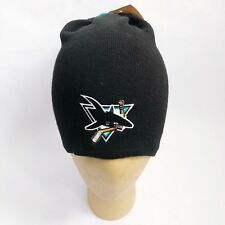vintage san jose sharks slouchy beanie hat adult OSFA deadstock NWT made in USA