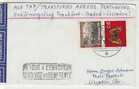 Berlin 1963 Airmail Frankfurt Cancel Return to Sender  Stamps Cover ref 22732