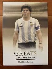 2020 Futera Unique Football Soccer GREATS Card Argentina MARADONA Mint