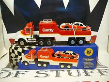 Getty Toy Race Car Carrier 1995 Limited Edition