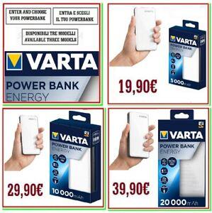 power bank VARTA carica batteria esterna portatile powerbank x smartphone NEW