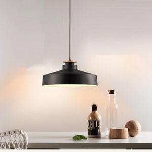 Wood Pendant Light Home Lighting Bedroom Modern Ceiling Lamp Kitchen LED Lights