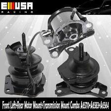3PCS Rear&Front Left Motor &Trans Mount Kit for 98-99 Accourd 2.3L SOHC Auto