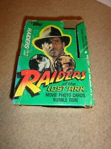 1981 Topps Raiders of the Lost Ark Empty Wax Display Box!  No Packs