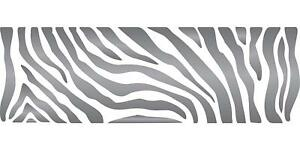 Zebra Stripe Stencil Reusable African Animal Wildlife Border for Painting Wall