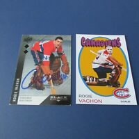ROGIE VACHON  (6 diff) cards  MONTREAL CANADIENS w/ Signed & Custom Red Wings