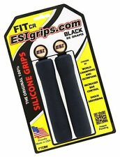ESI  FIT CR Black Mountain Bike Race Grips Shock Absorb 100% SILICONE 130mm 55g