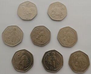 Rare Isle Of Man TT 50p Coins Honda 2009 Suzuki 2010 Philip McCallen Fifty Pence
