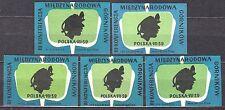 POLAND 1959 Matchbox Label - Cat.Z#144 Third Intl. Conference of Miners, Polska