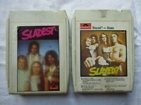 CASSETTE 8 ,EIGHT TRACK SLADE X2 SLADEST SLAYED polydor no cases