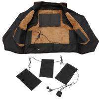 Electric Vest Heated Cloth Jacket USB Thermal Warm Heated Pad Winter Warmer