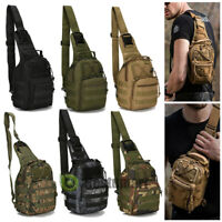 Tactical Chest Bag Backpack Men's Molle Crossbody Sling Messenger Shoulder Pack