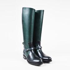 "Pierre Hardy NIB $1535 Black Blue & Green Calfskin ""Amazone"" Riding Boot SZ 39"