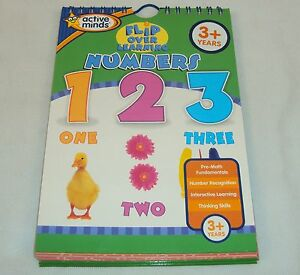 Flip Over Learning NUMBERS ~ Active Minds Flash Card Book For Parents & Children