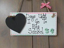 Personalised Countdown Childs Plaque Sign Days Until I Go To Big School
