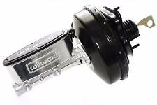 "67-70 Ford Mustang Polished Wilwood Master Cylinder Black 9"" Power Brake Booster"