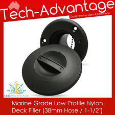 "MARINE BOAT NYLON DECK FILLER SUITS 38MM / 1-1/2"" HOSE PETROL/DIESEL/FUEL/WATER"