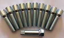16 x M14X1.5 Nero 60 ° Cerchi in Lega Bulloni filettatura 40mm per AUDI Q2 Q3 Q5 Q7