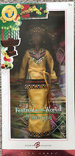 NIB Kwanzaa Barbie Festivals of the World African American Doll Collector's Ed
