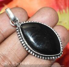 Black Onyx Gemstone Pendant 925 Sterling Silver Overlay U189-B131