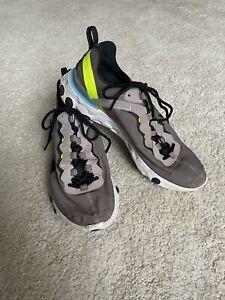 Nike React Grey Green Blue Trainers