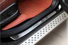 4pcs Stainless Steel Door Sill Plate Cover For BMW X6 E71 X5 E70 2007-2014