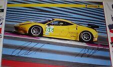 Le MANS 2013 CME JMW Dunlop Motorsport Ferrari GTE PRO #66 firmato POSTER No2