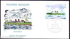 Polynesia FDC 1978, Monowai, Ships & Boats, Transport