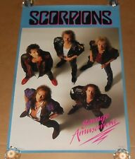 Scorpions Savage Amusement Poster 1988 Original Promo 36x24