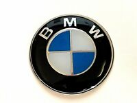 BMW BLUE & WHITE 55MM SELF ADHESIVE BADGE, UV LACQUERED, FREE UK P&P,U.K SELLER.