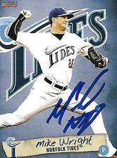 Mike Wright 2014 Norfolk Tides Signed Card