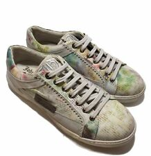 NEW, JOHN GALLIANO MEN'S LACE UP NEWSPAPER PRINT SNEAKERS, 43, $725