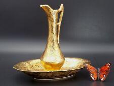 Bel Terr 22 karat Gold Guild Vase and Tray Vintage China United States Set gc