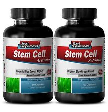 STEM SELL ACTIVATOR - Organic Blue Green Algae 500mg Amino Acids Energy 2B