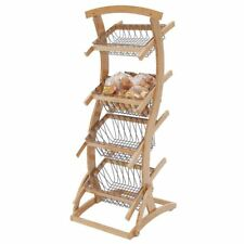 "Display Rack 4-Tier Made of Wood - 25 1/2 L x 22 3/4 W x 61"" H"