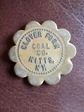 Coal Scrip Token Clover Fork Coal Co. Harlan Co. Kitts Ky. 25 Cent