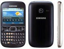 Samsung Chat 3330 - Metallic Black (Unlocked) Smartphone QWERTY English keyboard