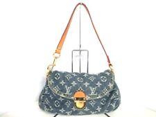 Auth LOUIS VUITTON Monogram Denim Mini Pleaty M95050 Blue Shoulder Bag CA0095