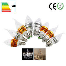 Led Lights E27 E14 6W Candle Bulb Antique Chandelier Lamp Warm White Day White