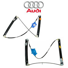 Audi A4 Quattro RS4 S4 Pair Set of Front Left & Right Window Regulators Genuine