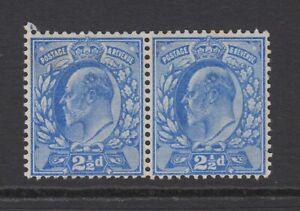 Pair of GB KEVII 2.1/2d Ultramarine SG230 Edward VII Mint Hinged Stamps