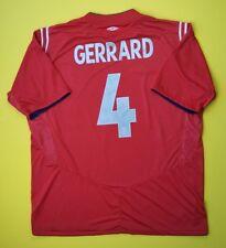 4.8/5 Gerrard England soccer jersey 2004 2006 away shirt 2XL football Umbro