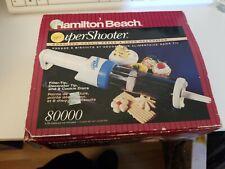 Vintage Hamilton Beach Super Shooter 80000 Cordless Cookie Press Blue Complete